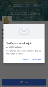 6. Check your emails and make sure to confirm your email address.